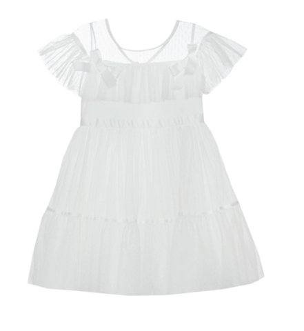 Patachou Tule Off White Dress