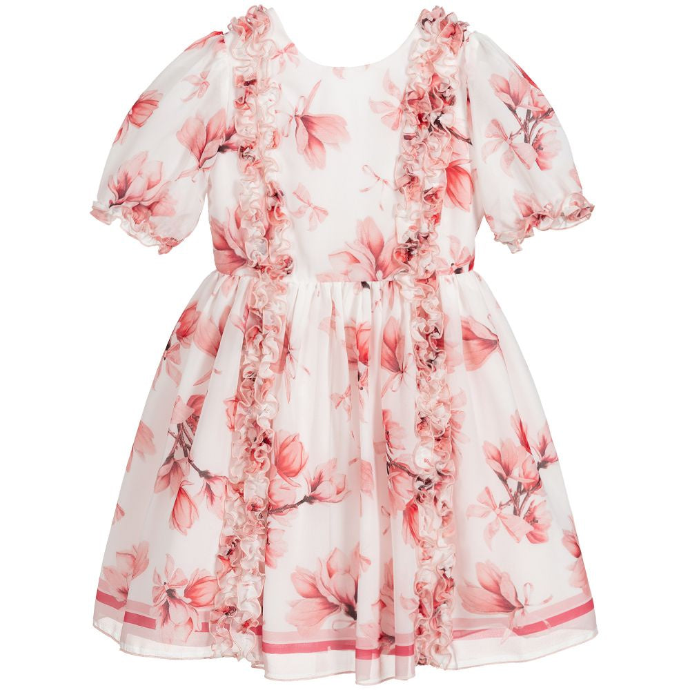 Patachou Pink & White Chiffon Dress