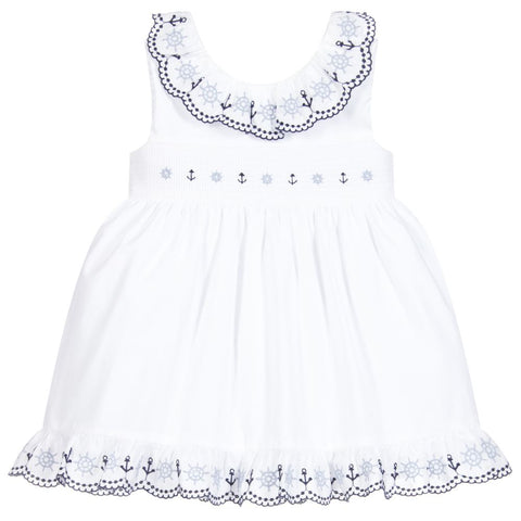 Patachou Girl White Cotton Dress