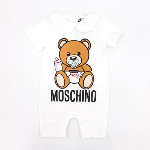 Moschino White Teddy Romper Gift Box