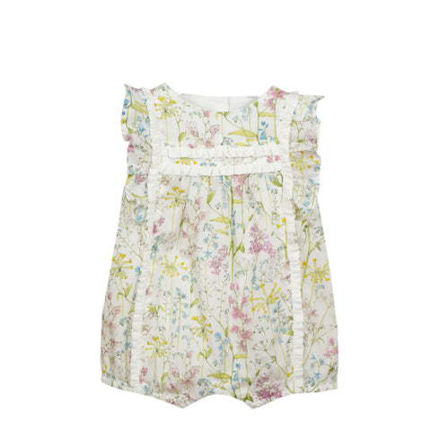 Patachou Ivory Floral Cotton Shortie