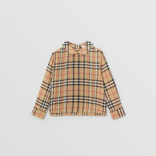 Burberry Vintage Check Cotton Twill Blouse
