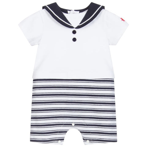 Patachou White & Blue Striped Shortie