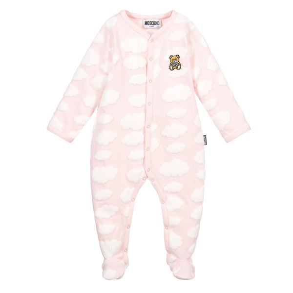 Moschino Allover Cloud Footie