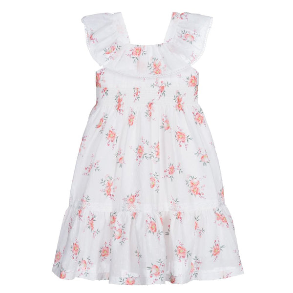 Patachou Ivory & Pink Floral Dress