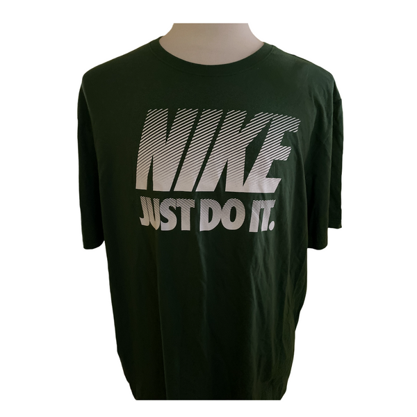 Nike men's just do it tee 2XL green