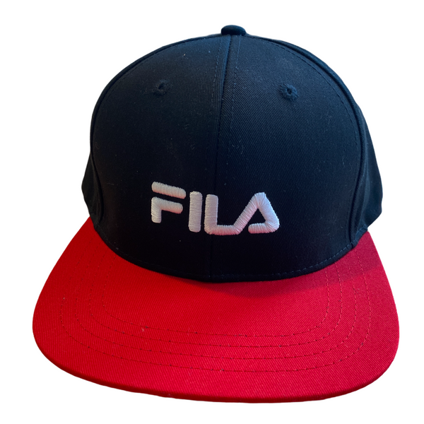 Fila men's snap back cap black/red