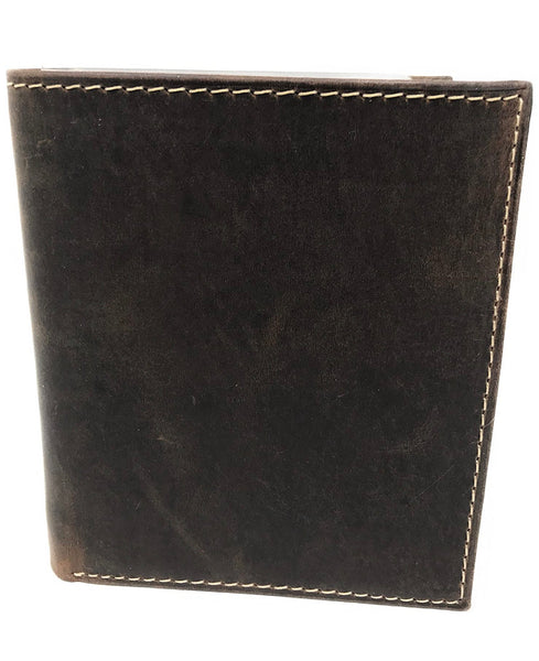 E Elton Rfid Blocking Hunter Genuine Leather Bifold Wallet - Big Hipster Bifold Wallets Rfid Blocking Credit Card Holder With Id Window – Men Travel Wallet Holds Up To 13 Cards