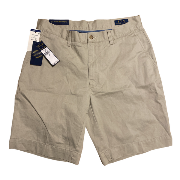 Polo men's classic fit 9 inch shorts 31 tan