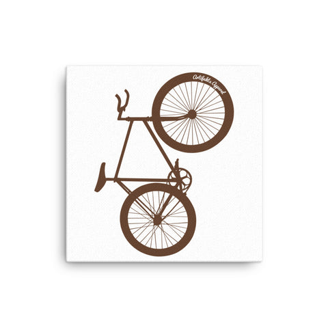 brown bike wall art canvas