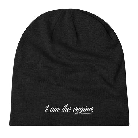 """I am the engine."" Knit Slouch Beanie"