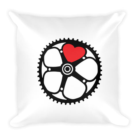 Chainring Heart Square Pillow