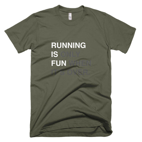 RUNNING IS FUN t-shirt