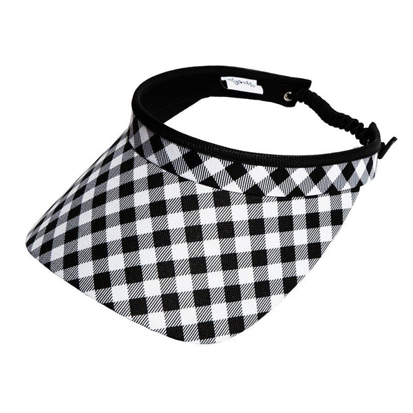 Checkmate Adjustable Coil Visor in Black and White