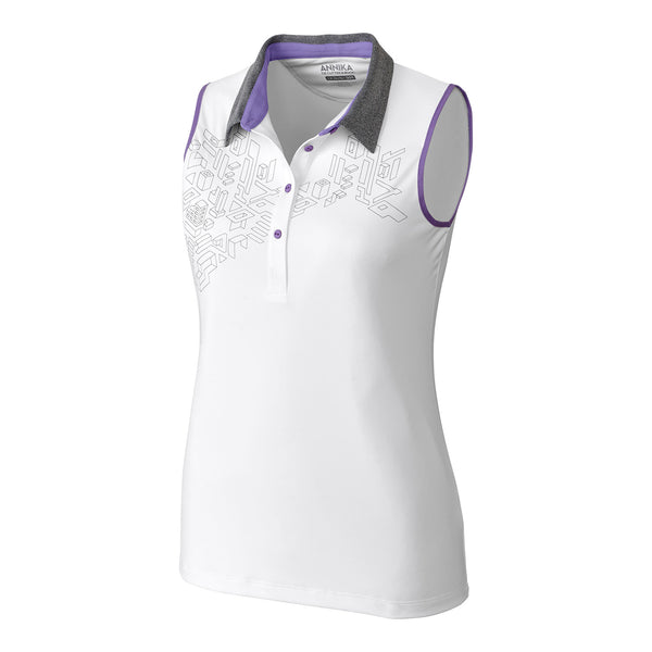 Neves White Sleeveless Polo