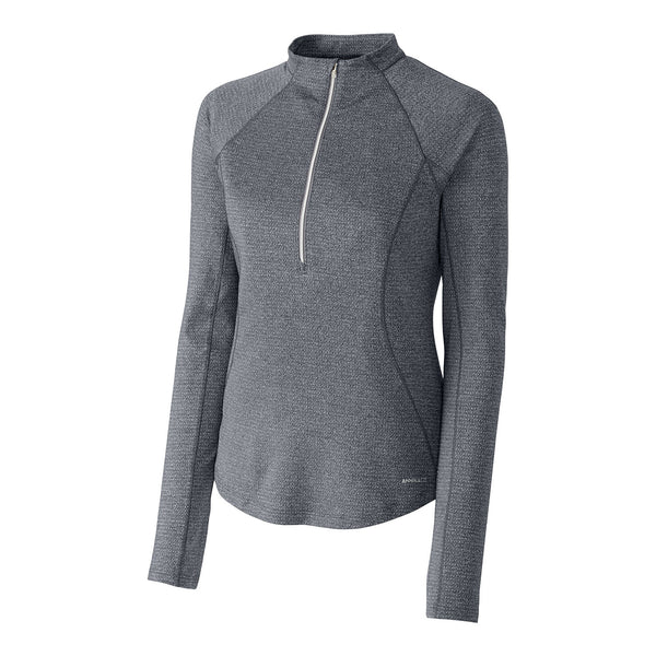Lennux Textured Half Zip Sweater