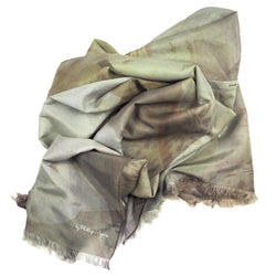 Gold Azalea Silk-Cotton Scarf Wrap