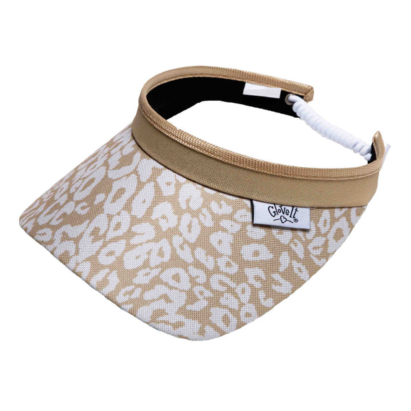 Uptown Cheetah Adjustable Coil Visor