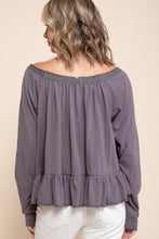"""Nora"" Top, Gray"