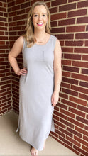 """Rowan"" Maxi Dress, Gray"