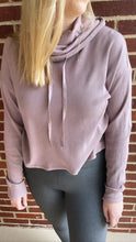 """Lucia"" Cowl-Neck Pullover, Dusty Pink"