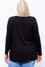 """Cameron"" Long-Sleeve, Black"