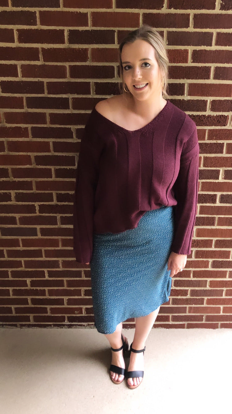"""Piper"" Skirt, Teal"