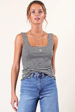 """Reese"" Tank, Black/Natural"