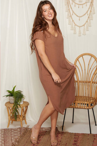 """Megan"" Dress, Cocoa"