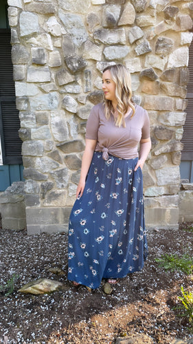 """Jannie"" Skirt, Blue"