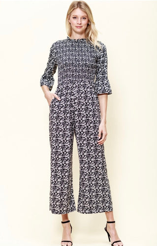 """Jessa"" Jumpsuit, Black/White"
