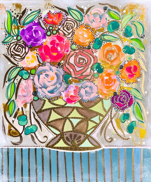 Deco Bouquet Fine Art Print
