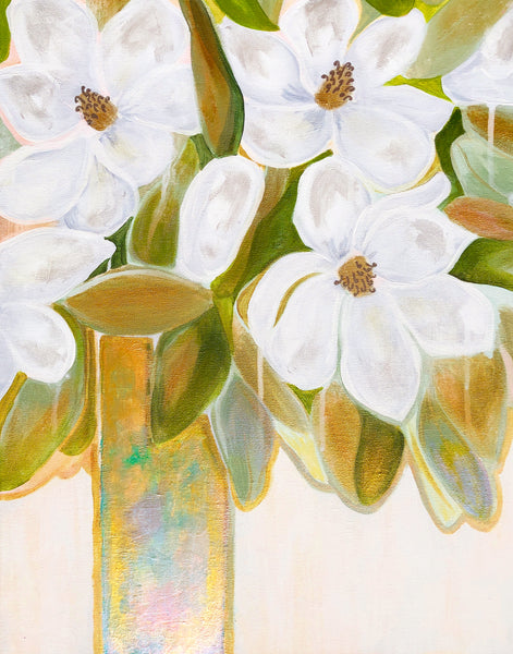 Farmhouse Magnolias Fine Art Print