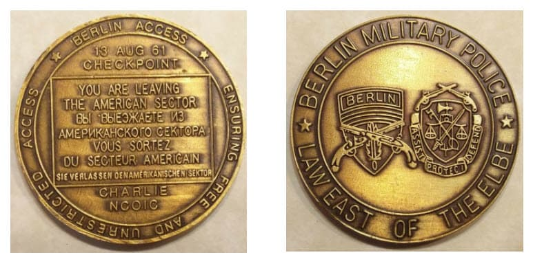 Berlin Military Police coin