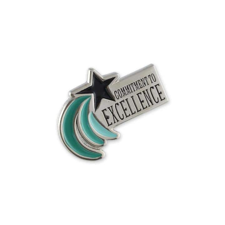 Customer excellence enamel lapel pin