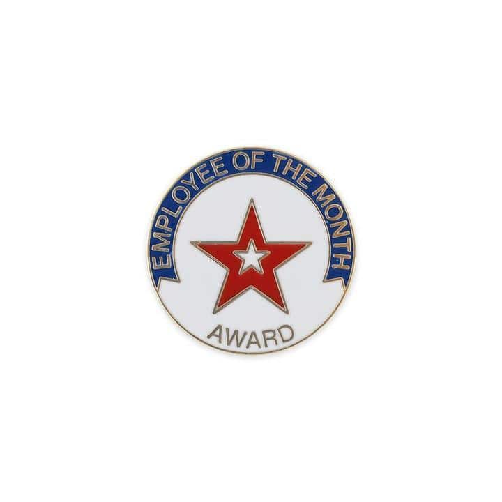 Employee of the month enamel lapel pin