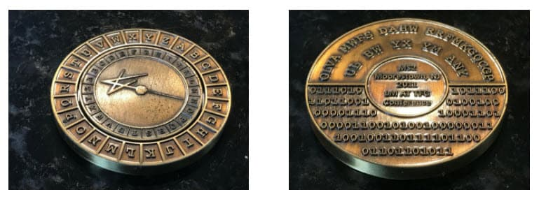 Lockheed Martin Cryptography challenge coin