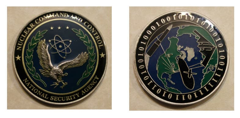 NSA Nuclear Command and Control challenge coin