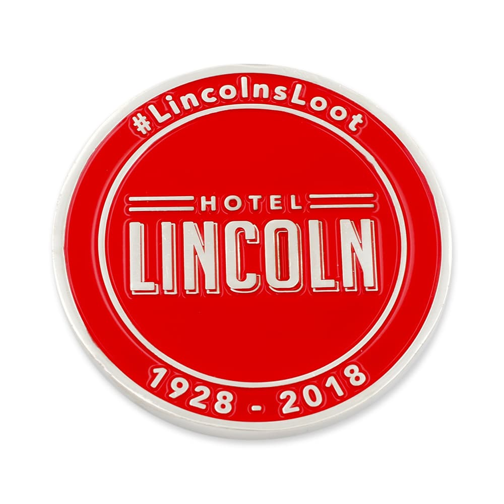 Lincoln hotel challenge coin