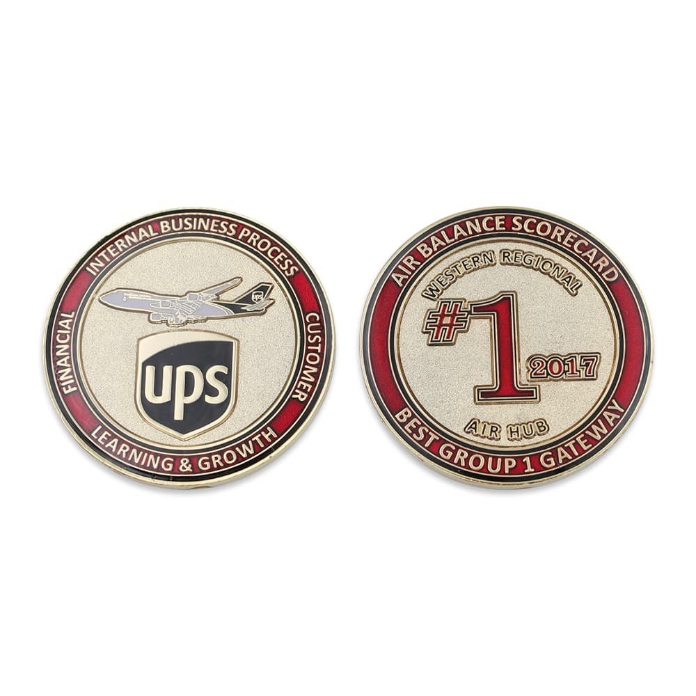 UPS challenge coin