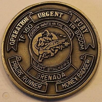 Army Challenge Coin from Operation Urgent Fury