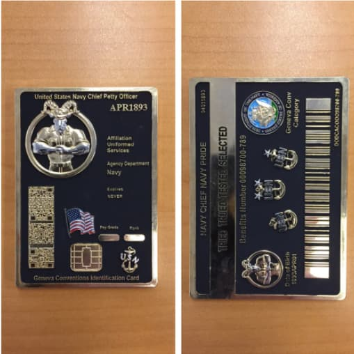 Navy CPO mess challenge coin