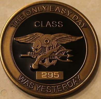 Navy Challenge coin from BUDS