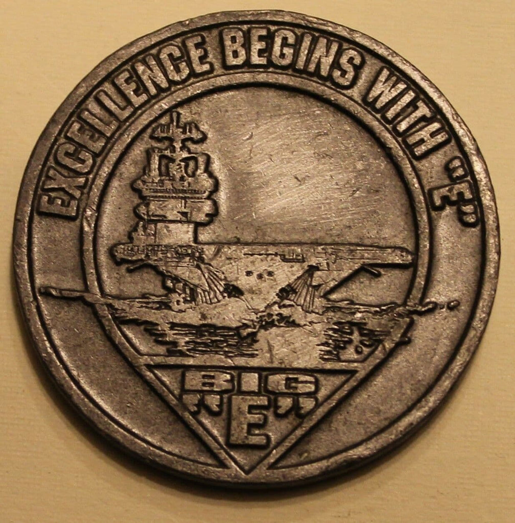 Navy challenge coin from the USS Enterprise