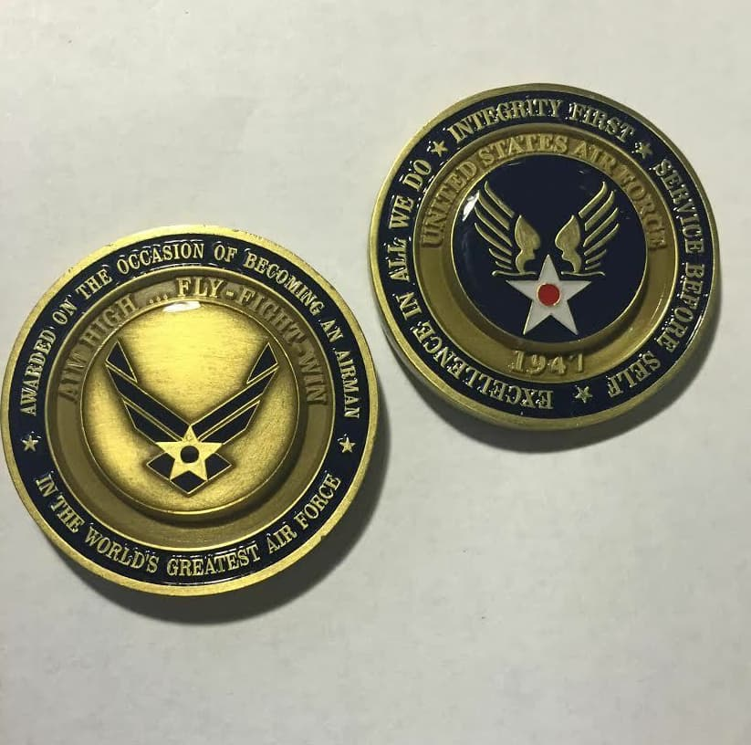 Air Force challenge coin from basic training
