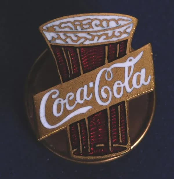 Coca Cola enamel pin from 1912