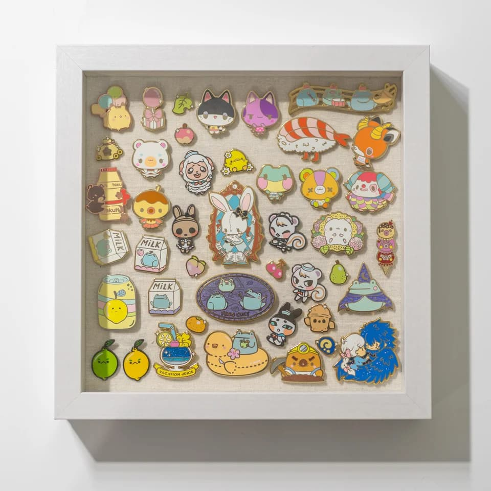 shadow box enamel pin display