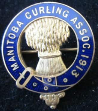 Manitoba curling pin