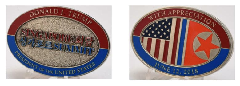Singapore Summit challenge coin