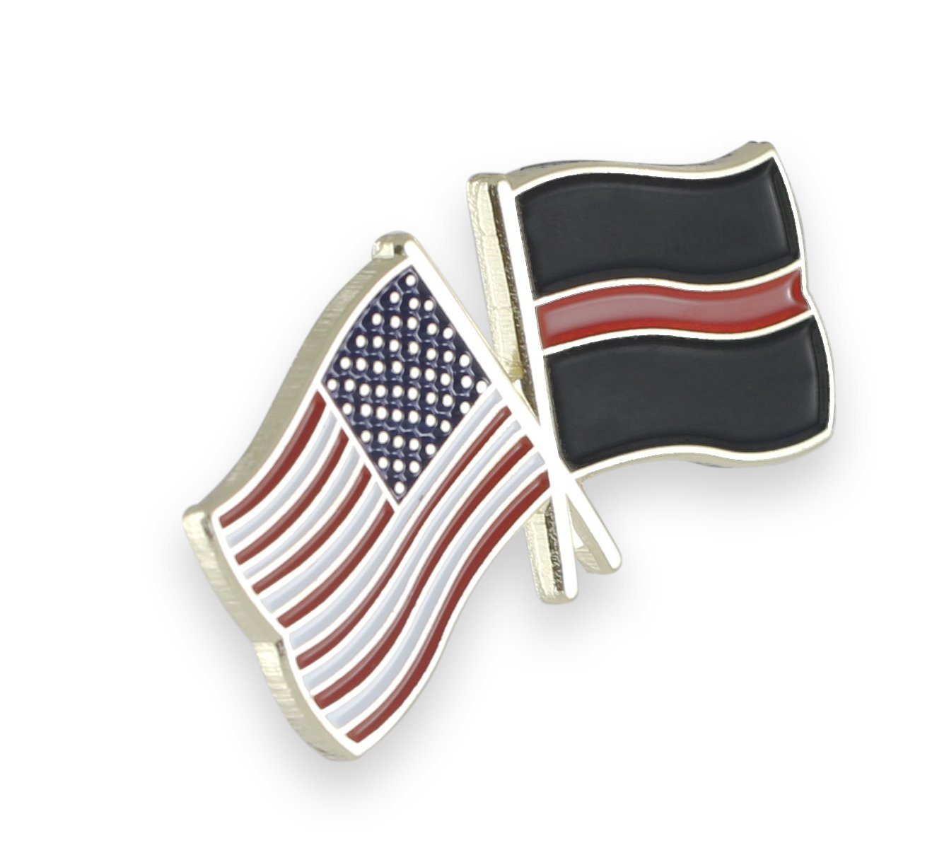 Thin Red Line USA Flag Pins